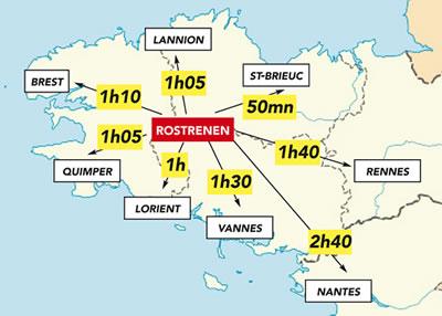 Rostrenen en plein centre de la Bretagne